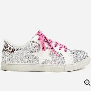 NWT Torrid BETSEY JOHNSON Silver Glitter Sneakers